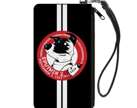 Canvas Zipper Wallet - SMALL - SPUTNIK 2 Laika Dog Black/Red/White