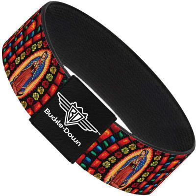 Buckle-Down Elastic Bracelet - Virgen de Guadalupe