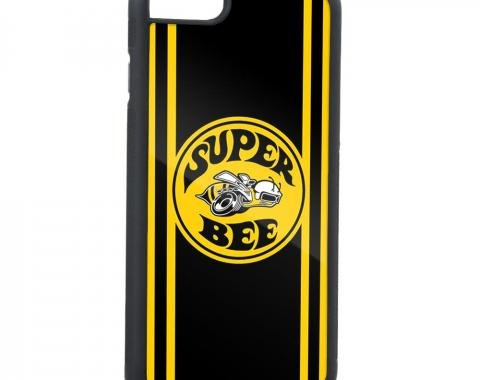 Rubber Cell Phone Case - BLACK - SUPER BEE Logo/Side Stripes FCG Black/Yellow