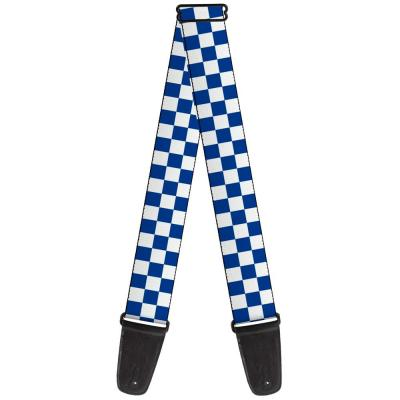 Guitar Strap - Checker BlueKU/White