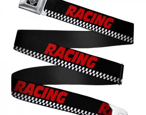 Seatbelt Belt - RACING/Checker Black/White/Red