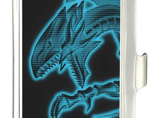 Business Card Holder - SMALL - YU-GI-OH! Blue-Eyes White Dragon Pose FCG Black/Electric Blue