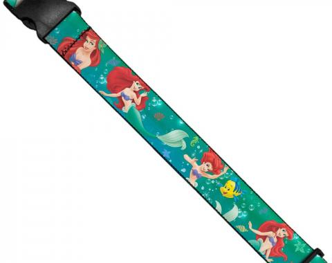 Luggage Strap - Ariel Poses w/Flounder Green/Blue Fade
