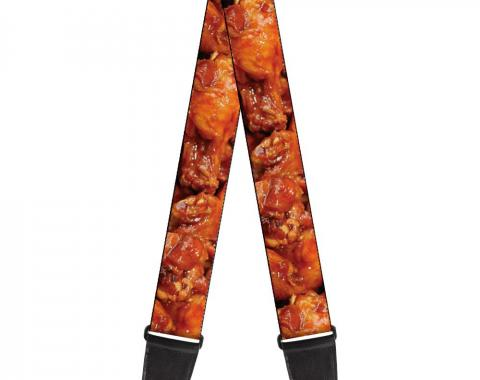 Guitar Strap - Vivid Hot Wings Stacked