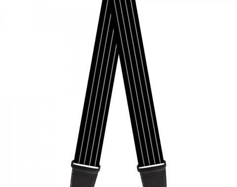 Guitar Strap - Pinstripes Black/Gray