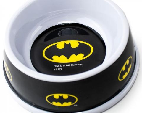 """Single Melamine Pet Bowl - 7.5"""" (16oz) - Batman Black/Yellow"""