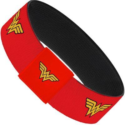 "Elastic Bracelet - 1.0"" - Wonder Woman Logo Red"