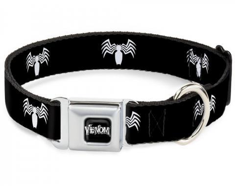 MARVEL UNIVERSE   Dog Collar VNA-VENOM Black/White - Venom Spider Logo Black/White