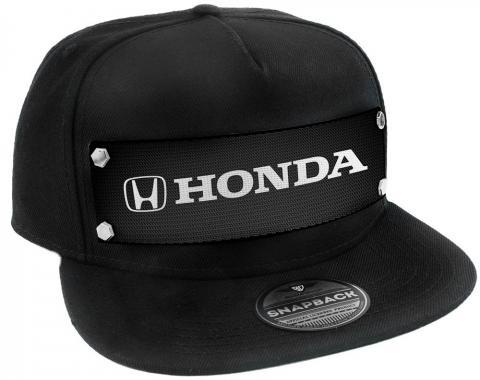 Embellishment Trucker Hat BLACK - HONDA Logo White/Black