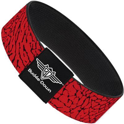 Buckle-Down Elastic Bracelet - Elephant Crackle Red