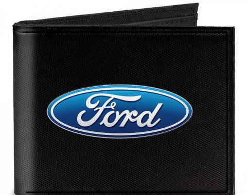 Canvas Bi-Fold Wallet - Ford Oval Logo CENTERED