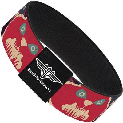 Buckle-Down Elastic Bracelet - Angry Bunnies C/U Purple/Red/Blue