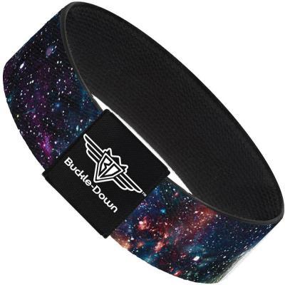 Buckle-Down Elastic Bracelet - Galaxy Collage