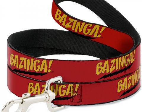 Dog Leash - BAZINGA! Red/Gold/Black