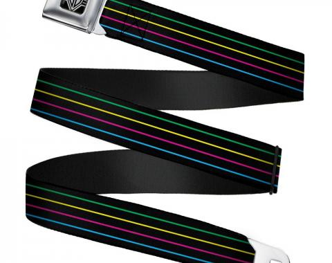Seatbelt Belt - Pinstripes Black/Multi Color