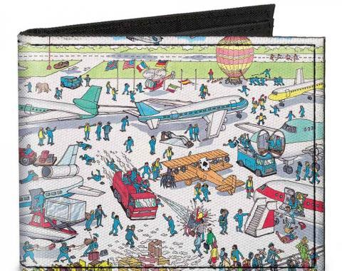 Canvas Bi-Fold Wallet - Where's Waldo? Airport
