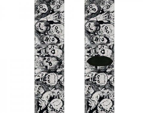 Sock Pair - Polyester - Zombie Skulls Sketch - CREW
