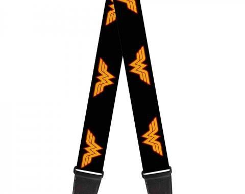 Guitar Strap - Wonder Woman Logo Black