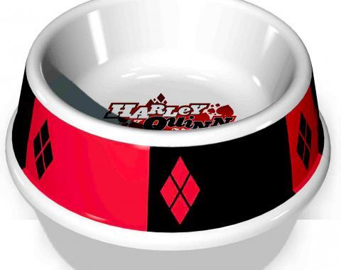 "PBWL1-MLM-7.5-JKCL  Single Melamine Pet Bowl - 7.5"" (16oz) - Harley Quinn Diamon Icon + Diamonds"