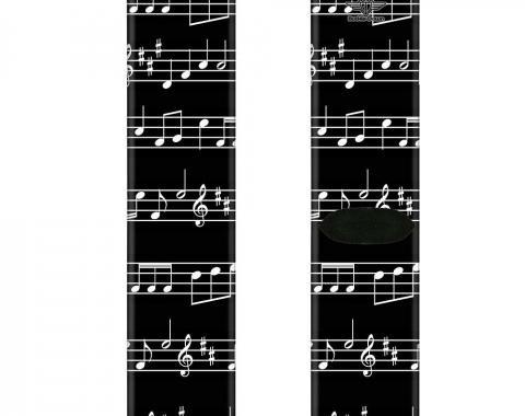 Sock Pair - Polyester - Music Notes Black/White - CREW