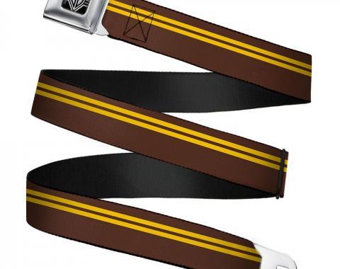 Seatbelt Belt - Racing Stripe Brown/Gold