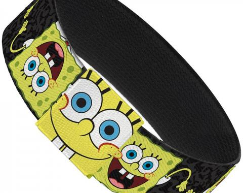 "Elastic Bracelet - 1.0"" - SpongeBob Pose Flip/Camo Gray/Black"