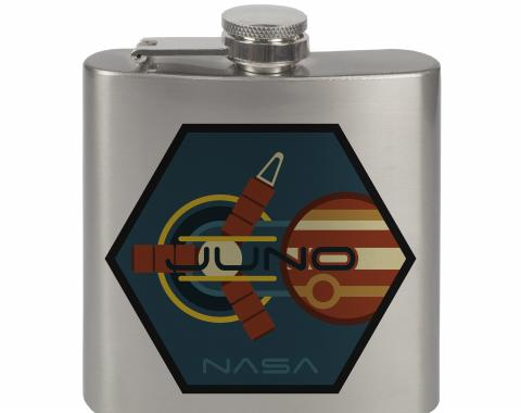Stainless Steel Flask - 6 OZ - JUNO Jupiter Burnt Orange/Blues/Yellow/Oranges