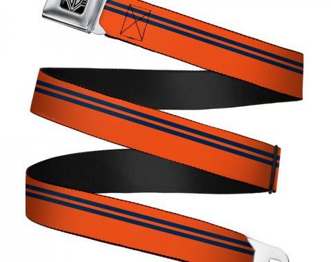 Seatbelt Belt - Racing Stripe Orange/Navy