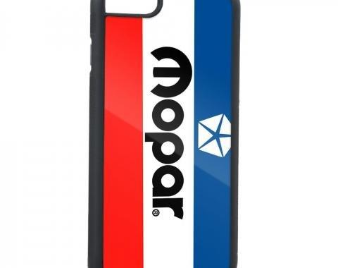 Rubber Cell Phone Case - BLACK - MOPAR Chrysler Logo FCG White/Blue/Red/Black