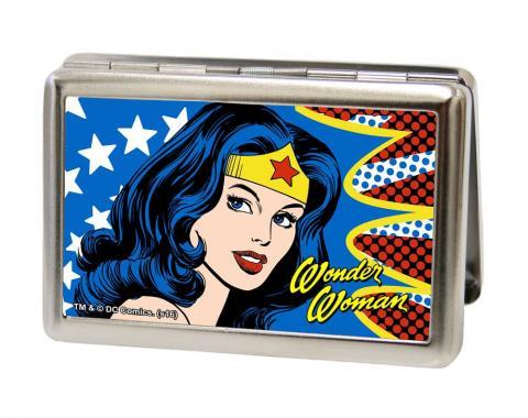 Business Card Holder - LARGE - Wonder Woman Face w/Stars FCG