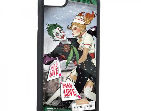 Rubber Cell Phone Case - BLACK - Harley Quinn Issue #19 MISTER J & ME The Kiss Variant Cover Pose FCG