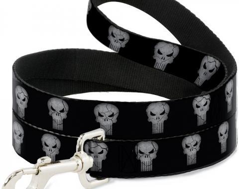 MARVEL UNIVERSE  Dog Leash Stone Punisher Logo Black/Gray
