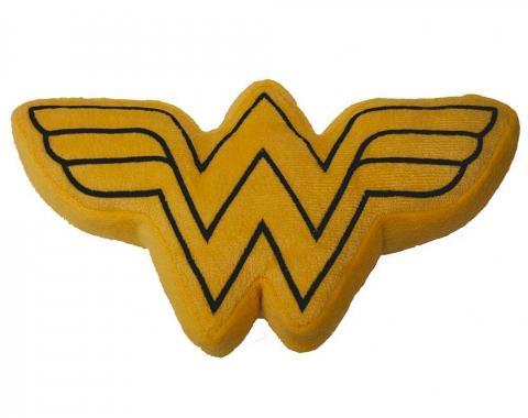 DTPT-WWBS  Dog Toy Squeaky Plush - Wonder Woman Logo Icon Yellow/Black