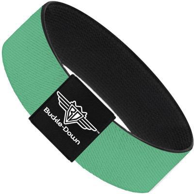 Buckle-Down Elastic Bracelet - Solid Rainforest Green