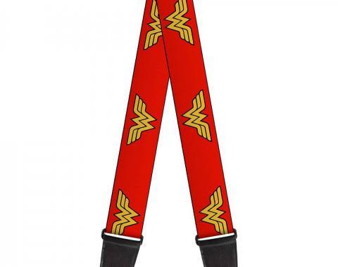 Guitar Strap - Wonder Woman Logo Red