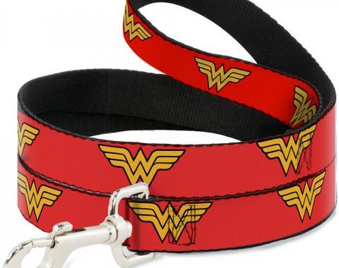Dog Leash Wonder Woman Logo Red
