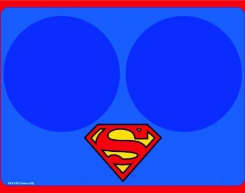 Placemat - Superman Blue w/Bowl Markers