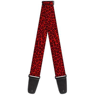 Guitar Strap - Leopard Red