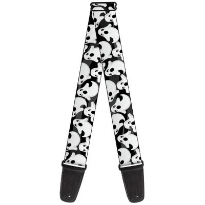 Guitar Strap - Ghosts Scattered Black/White