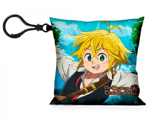 Pillow Keychain - THE SEVEN DEADLY SINS Meliodas + Elizabeth Action Poses