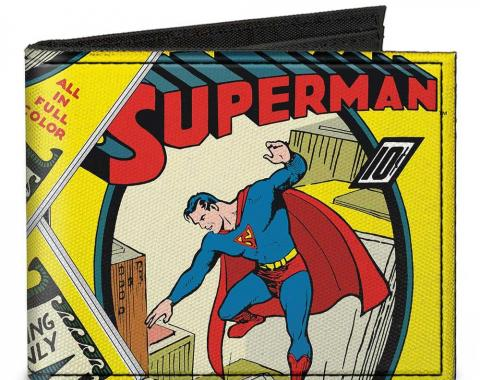 Canvas Bi-Fold Wallet - Classic SUPERMAN #1 Flying Cover Pose