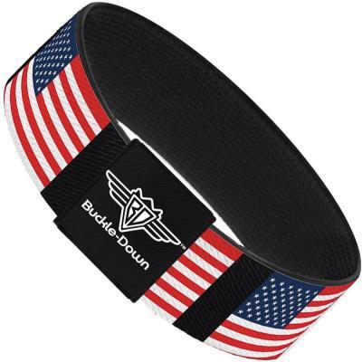 Buckle-Down Elastic Bracelet - United States Flags