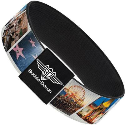 Buckle-Down Elastic Bracelet - Vivid Los Angeles Snapshots Stacked