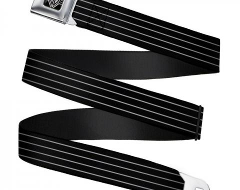 Seatbelt Belt - Pinstripes Black/Gray