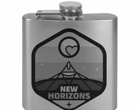 Stainless Steel Flask - 6 OZ - NEW HORIZONS Pluto Tonal Grays