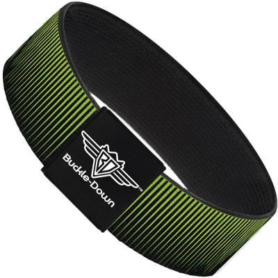 Buckle-Down Elastic Bracelet - Vertical Stripes Transition Black/Yellow