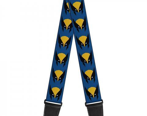 MARVEL X-MEN  Guitar Strap - Wolverine Mask Icon Blue/Black/Yellow