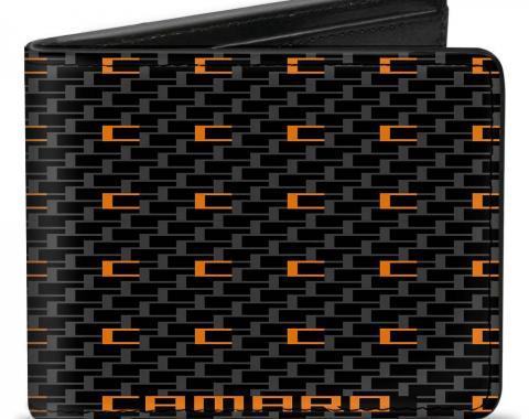 Bi-Fold Wallet - Camaro Performance 02 CAMARO w/Mini C Black/Gray/Orange