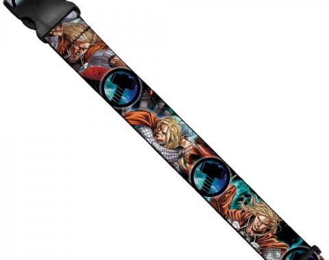 MARVEL UNIVERSE  Luggage Strap - Astonishing Thor #3 Poses/Hammer Logo