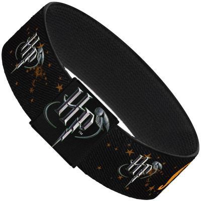 "Elastic Bracelet - 1.0"" - HP Logo/MUGGLE/Stars Black/Gold"